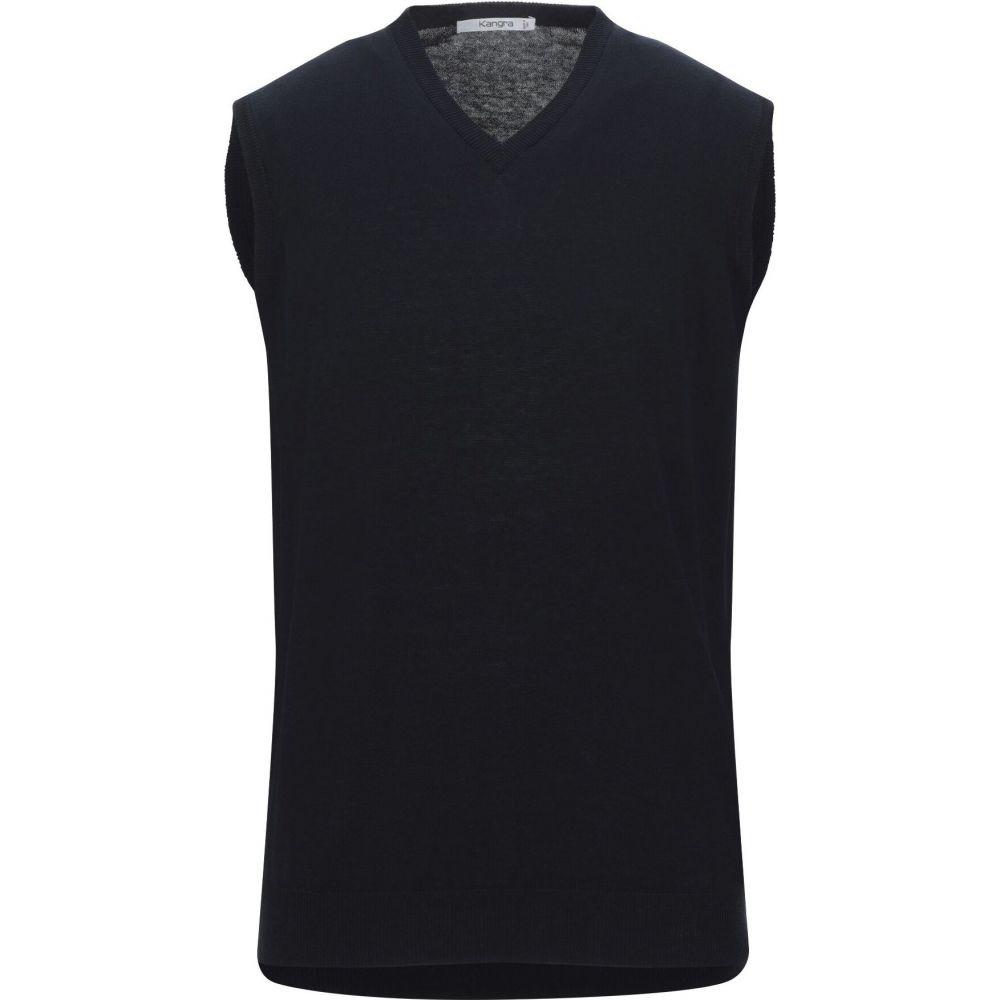 カングラ カシミア KANGRA CASHMERE メンズ ベスト・ジレ トップス【sleeveless sweater】Dark blue