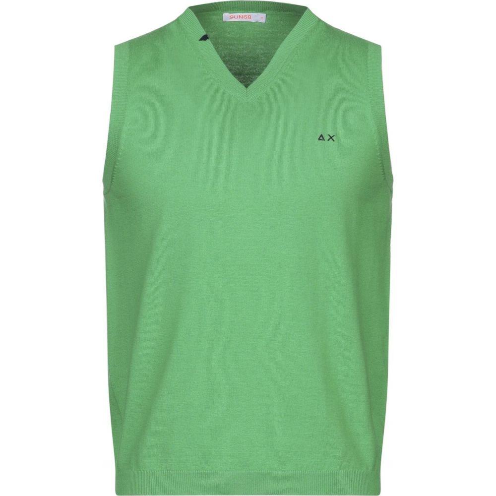 サン シックスティーエイト SUN 68 メンズ ベスト・ジレ トップス【sleeveless sweater】Light green