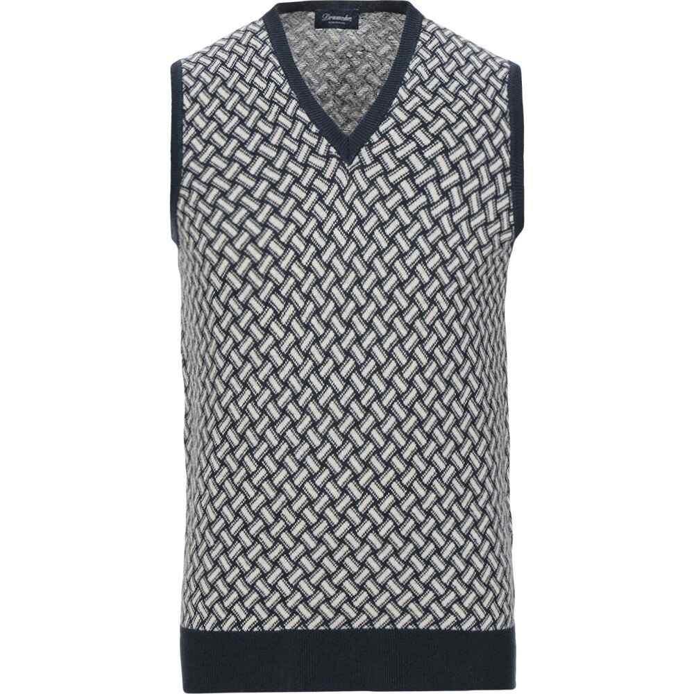 ドルモア DRUMOHR メンズ ベスト・ジレ トップス【sleeveless sweater】White