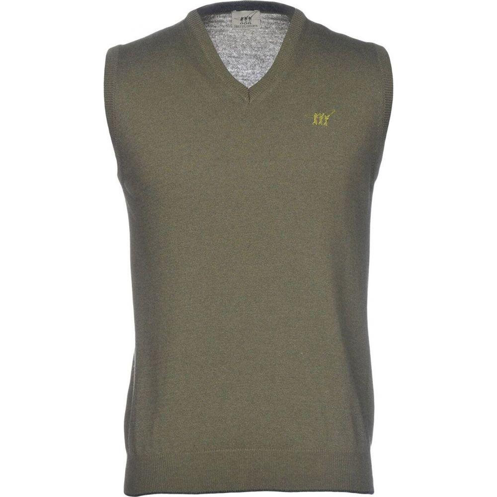 ヘンリーコットンズ HENRY COTTON'S メンズ ベスト・ジレ トップス【sleeveless sweater】Military green
