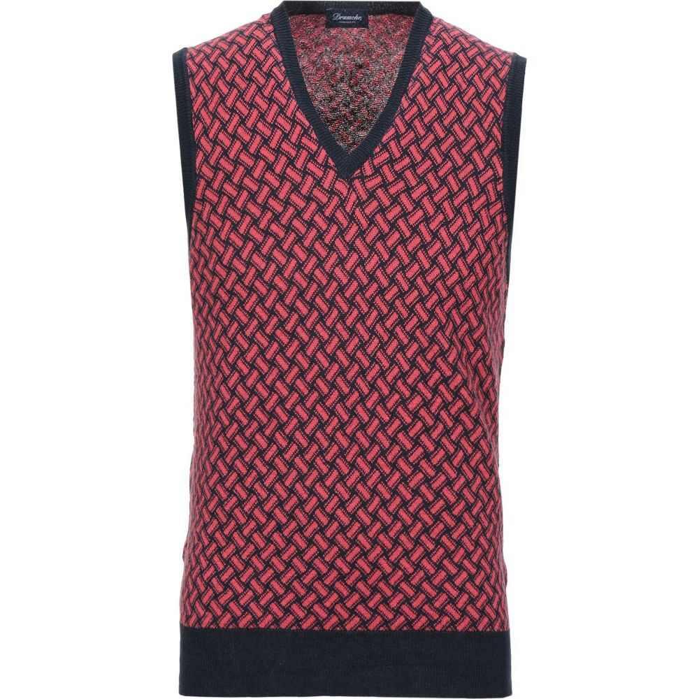 ドルモア DRUMOHR メンズ ベスト・ジレ トップス【sleeveless sweater】Red