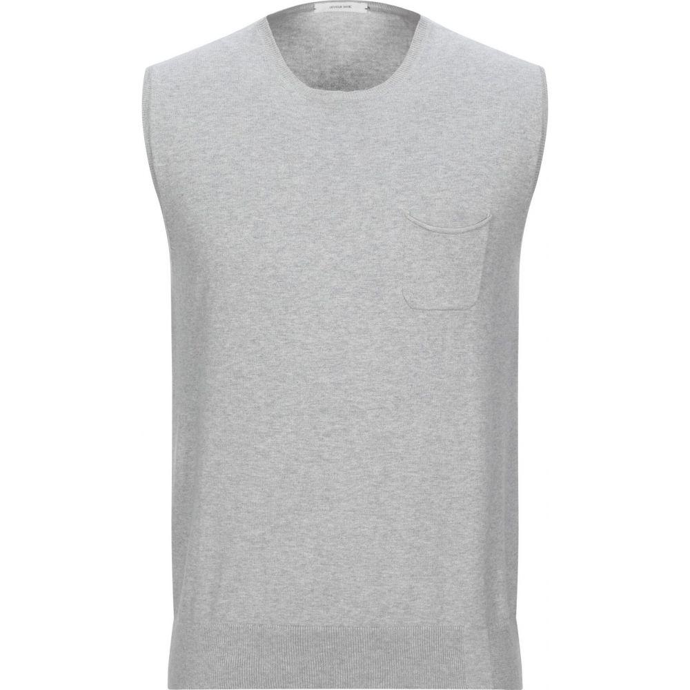 オビオスベーシック OBVIOUS BASIC メンズ ベスト・ジレ トップス【sleeveless sweater】Grey