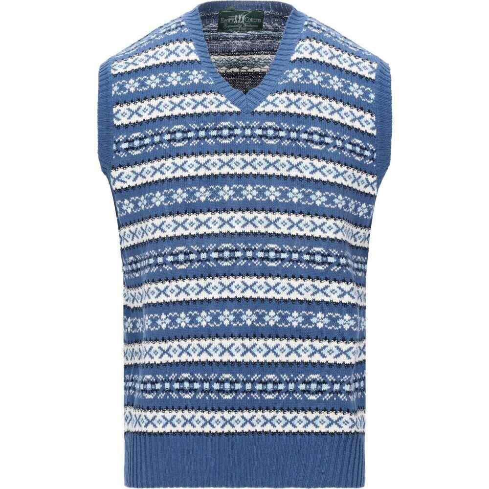 ヘンリーコットンズ HENRY COTTON'S メンズ ベスト・ジレ トップス【sleeveless sweater】Slate blue