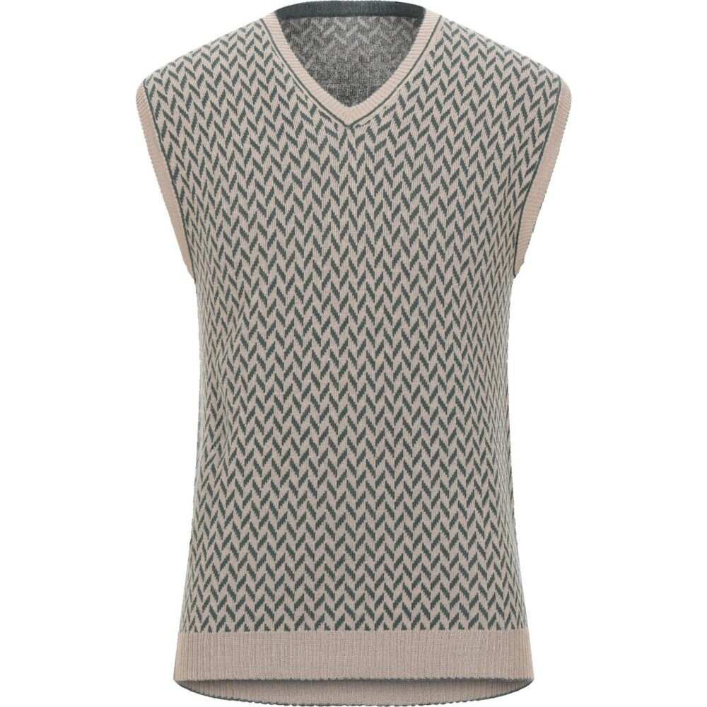 メッサジェリエ MESSAGERIE メンズ ベスト・ジレ トップス【sleeveless sweater】Beige