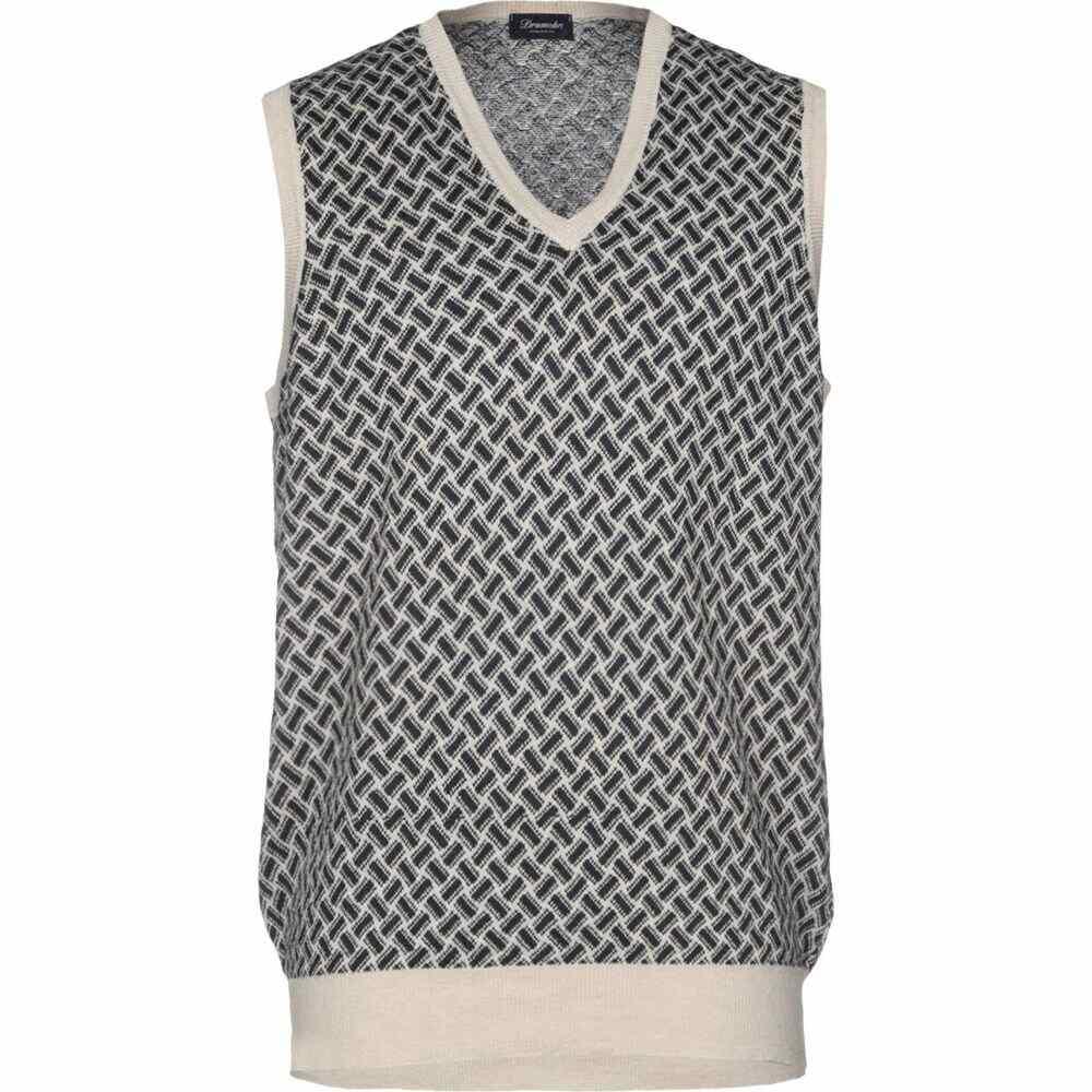 ドルモア DRUMOHR メンズ ベスト・ジレ トップス【sleeveless sweater】Dark blue