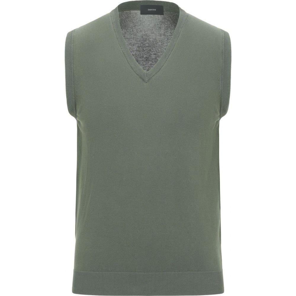 ザノーネ ZANONE メンズ ベスト・ジレ トップス【sleeveless sweater】Military green