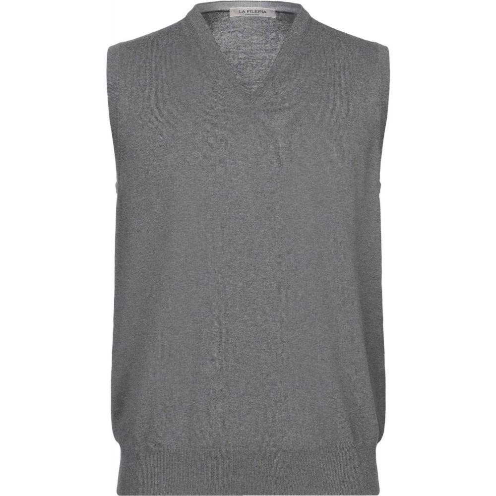 ラ フィレリア LA FILERIA メンズ ベスト・ジレ トップス【sleeveless sweater】Lead