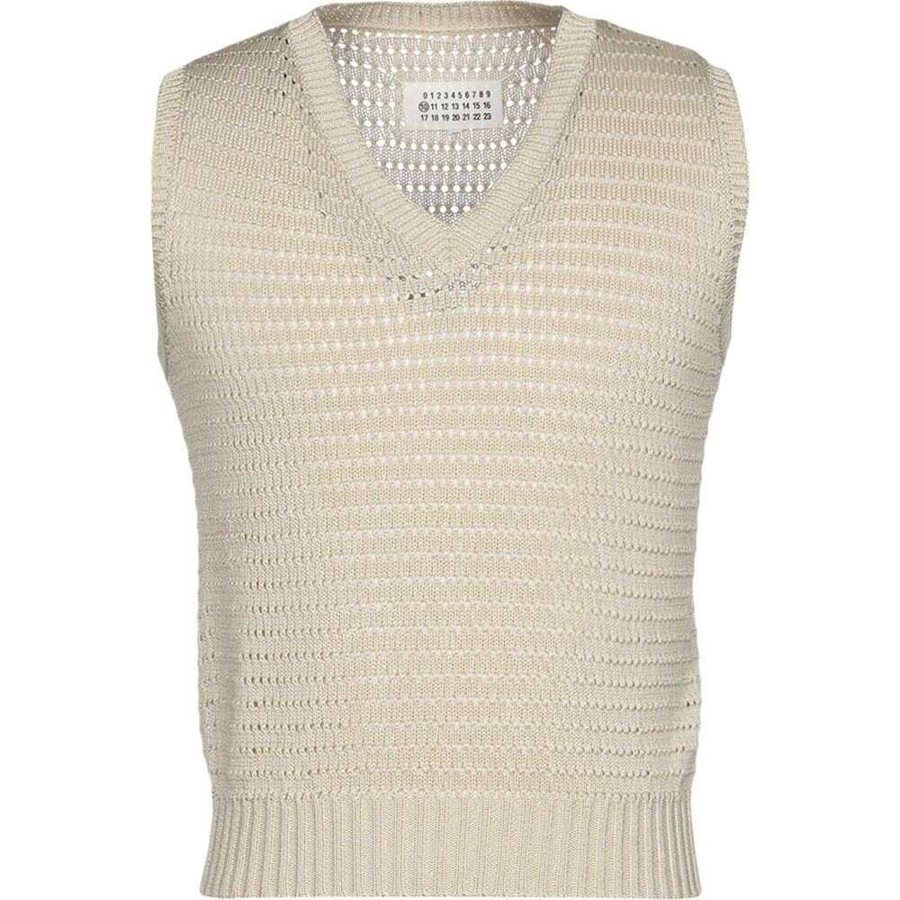 メゾン マルジェラ MAISON MARGIELA メンズ ベスト・ジレ トップス【sleeveless sweater】Sand