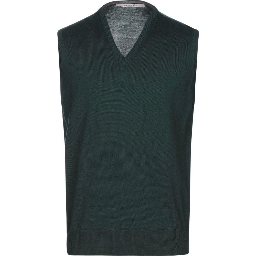 ラ フィレリア LA FILERIA メンズ ベスト・ジレ トップス【sleeveless sweater】Dark green
