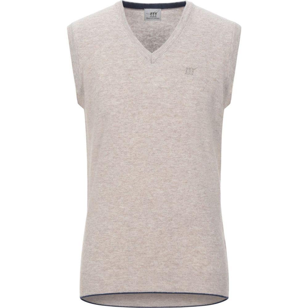 ヘンリーコットンズ HENRY COTTON'S メンズ ベスト・ジレ トップス【sleeveless sweater】Beige