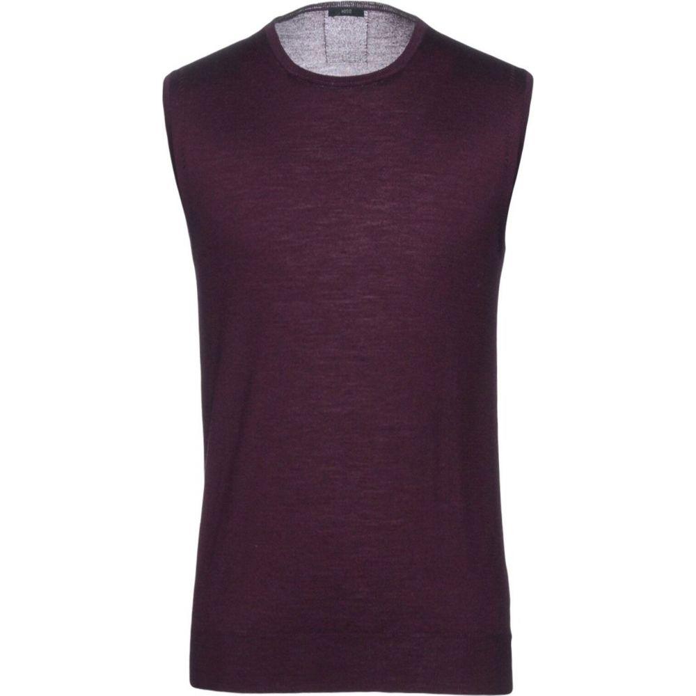 オジオ HoSIO メンズ ベスト・ジレ トップス【sleeveless sweater】Deep purple