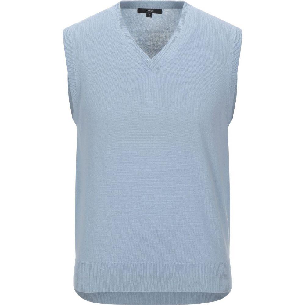 ダンディ DANDI メンズ ベスト・ジレ トップス【sleeveless sweater】Sky blue