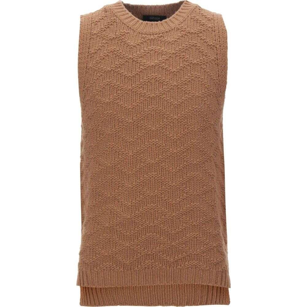 レトア RETOIS メンズ ベスト・ジレ トップス【sleeveless sweater】Camel