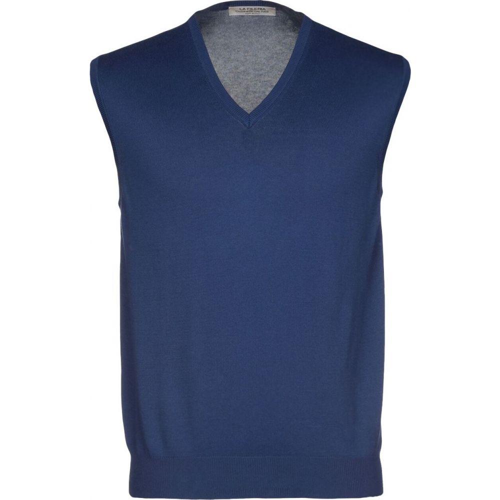 ラ フィレリア LA FILERIA メンズ ベスト・ジレ トップス【sleeveless sweater】Blue
