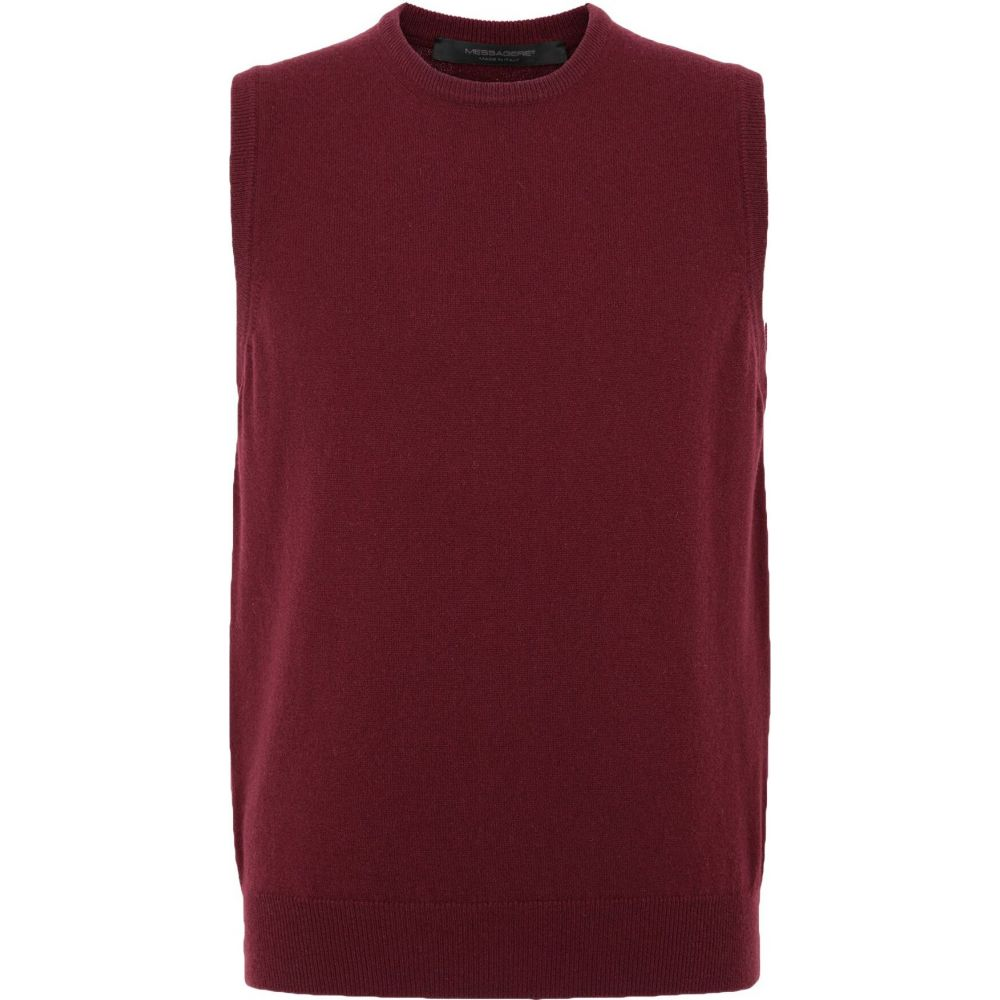 メッサジェリエ MESSAGERIE メンズ ベスト・ジレ トップス【sleeveless sweater】Garnet