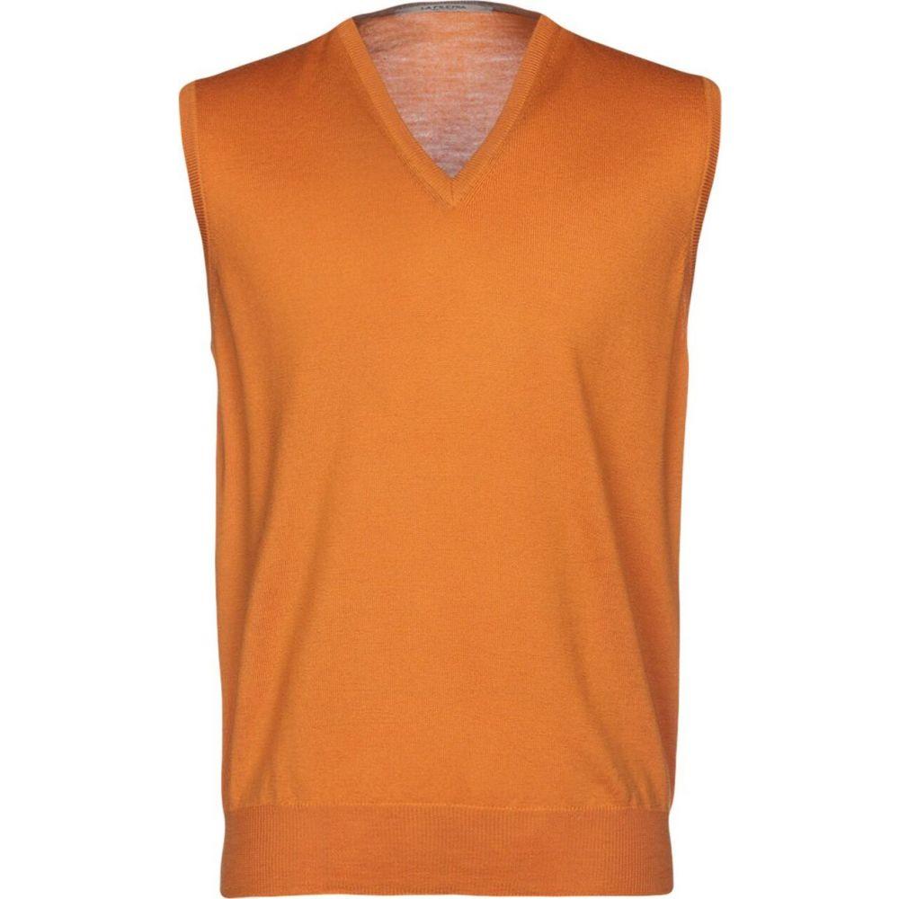 ラ フィレリア LA FILERIA メンズ ベスト・ジレ トップス【sleeveless sweater】Orange