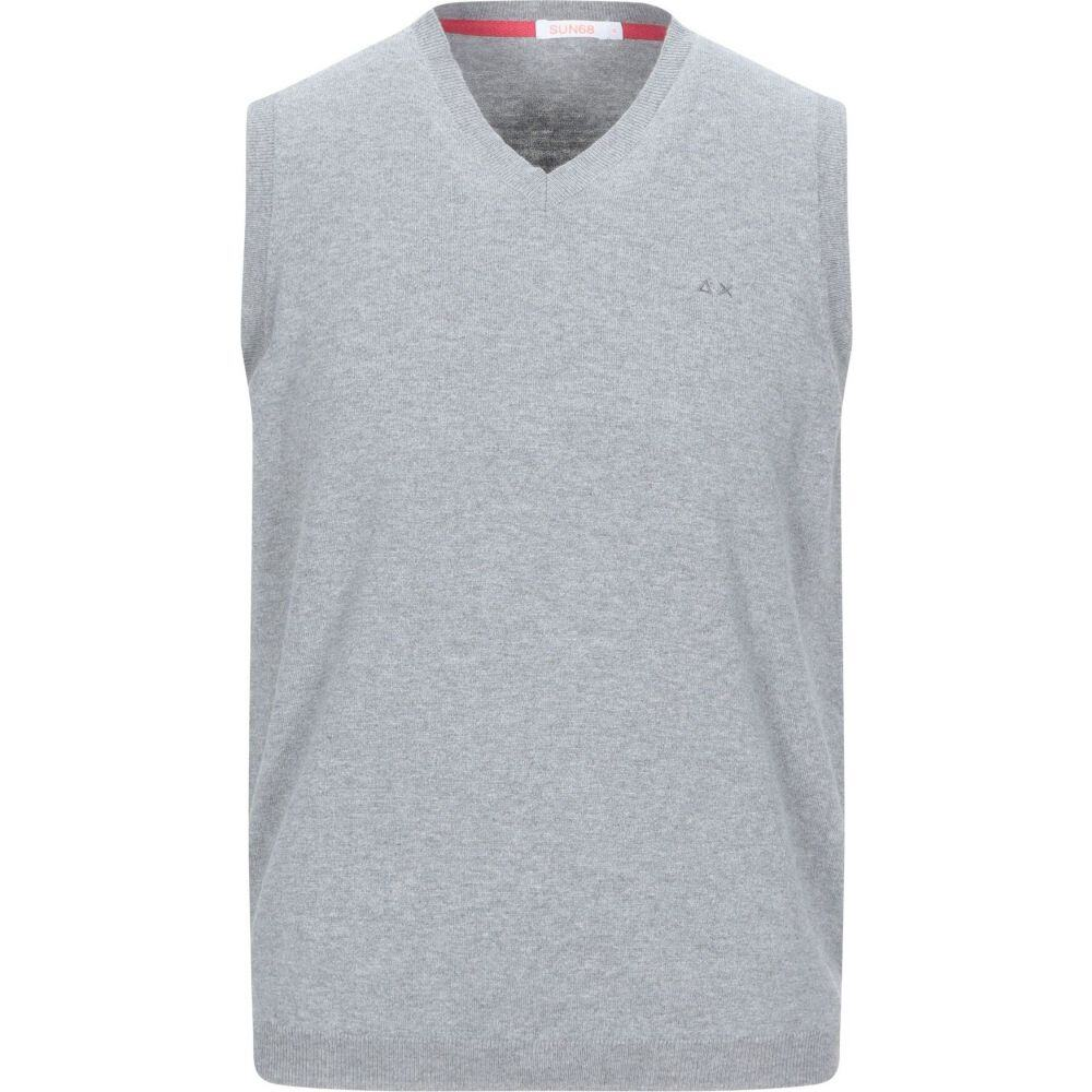 サン シックスティーエイト SUN 68 メンズ ベスト・ジレ トップス【sleeveless sweater】Light grey