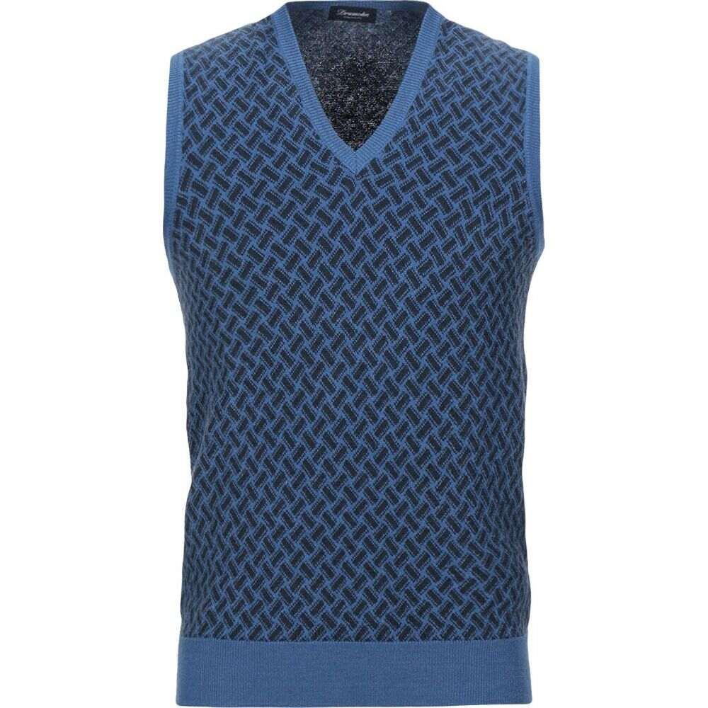 ドルモア DRUMOHR メンズ ベスト・ジレ トップス【sleeveless sweater】Blue