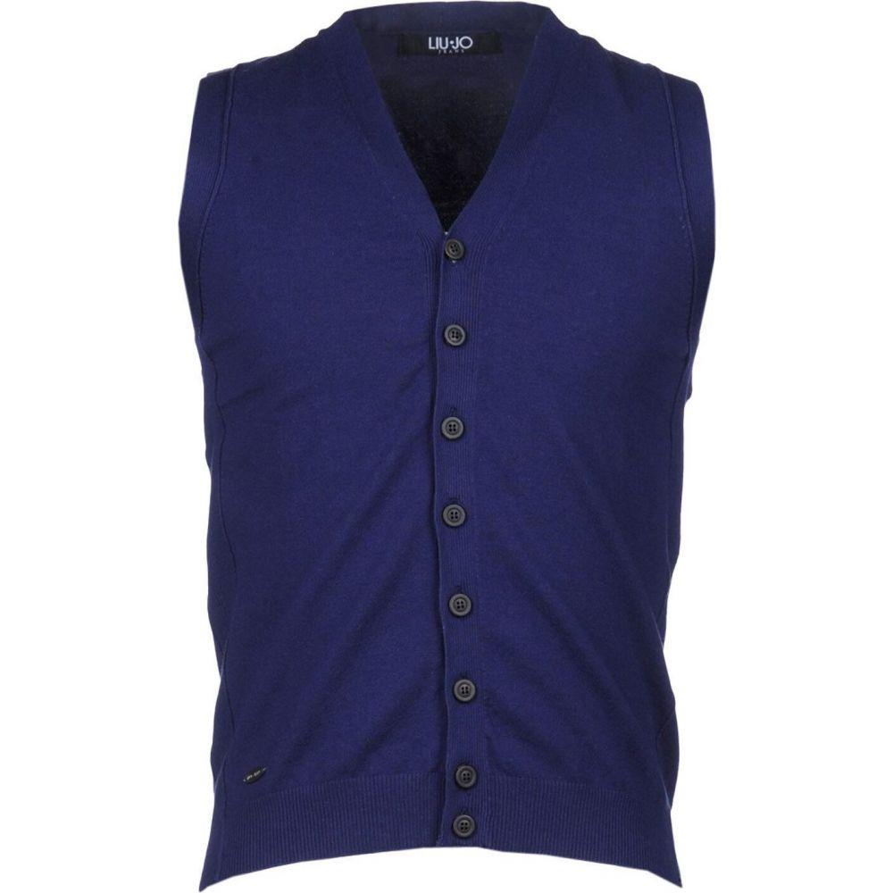 リウジョー LIU JO MAN メンズ ベスト・ジレ トップス【sleeveless sweater】Dark blue