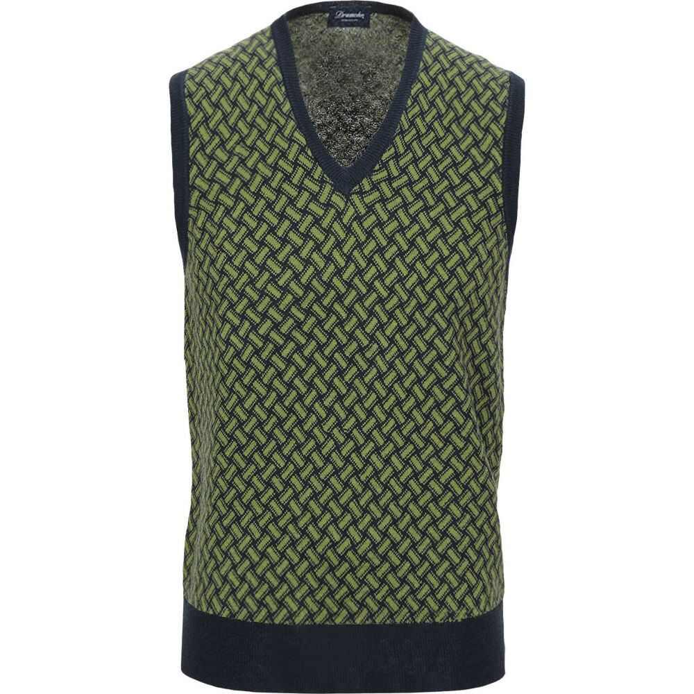 ドルモア DRUMOHR メンズ ベスト・ジレ トップス【sleeveless sweater】Green