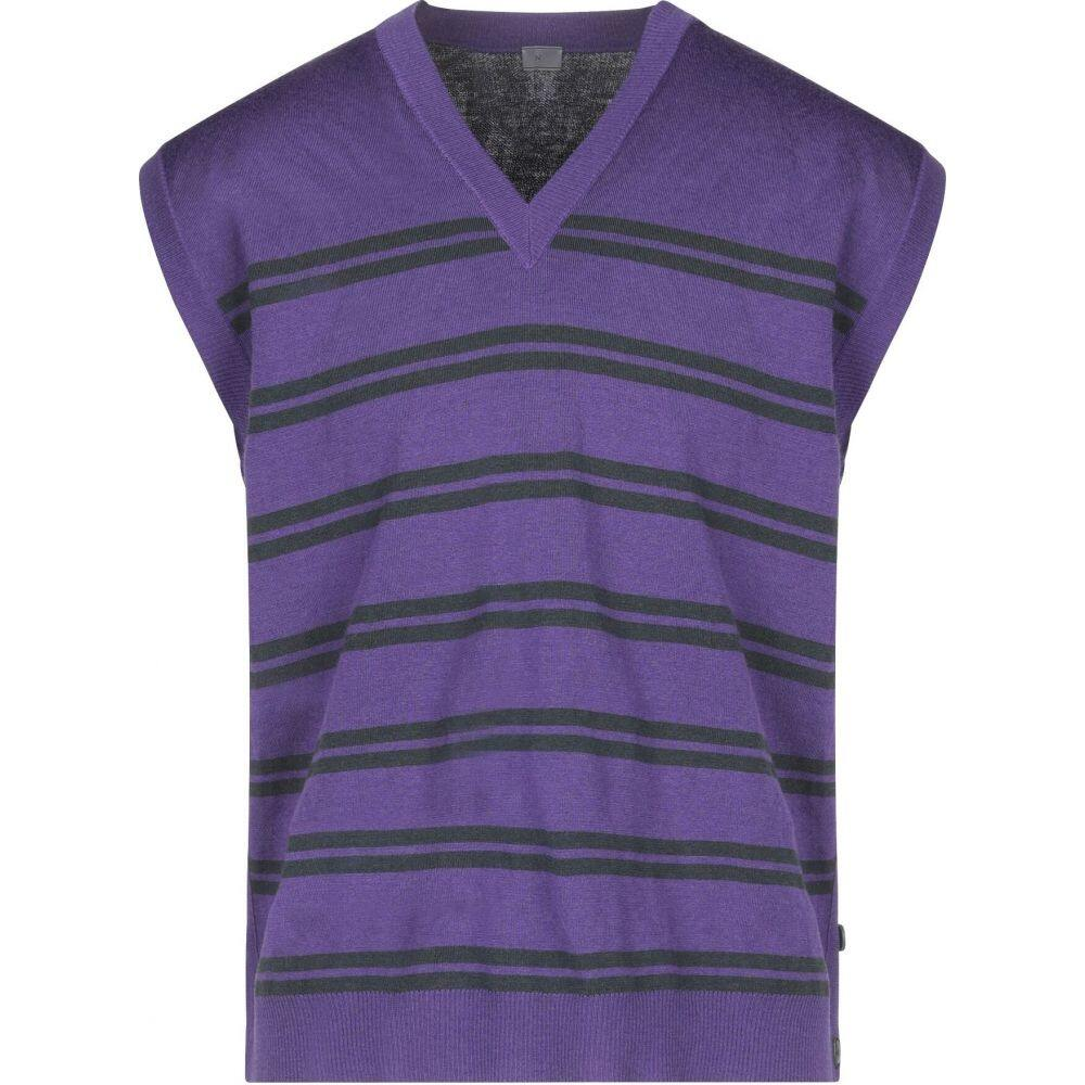 ランバン LANVIN メンズ ベスト・ジレ トップス【sleeveless sweater】Purple