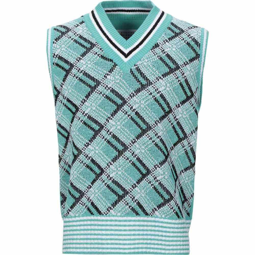メゾン マルジェラ MAISON MARGIELA メンズ ベスト・ジレ トップス【sleeveless sweater】Light green