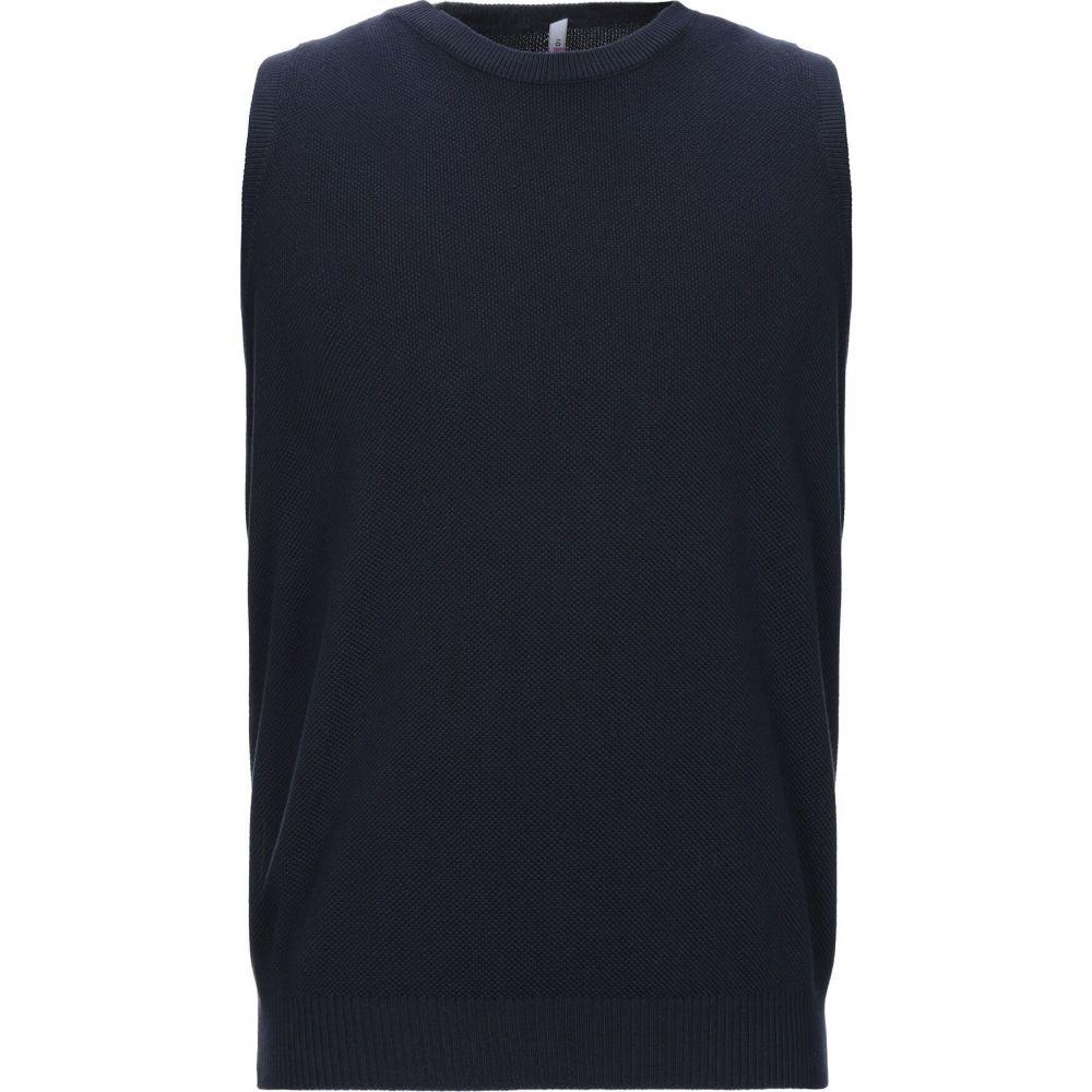 ダンディ DANDI メンズ ベスト・ジレ トップス【sleeveless sweater】Dark blue