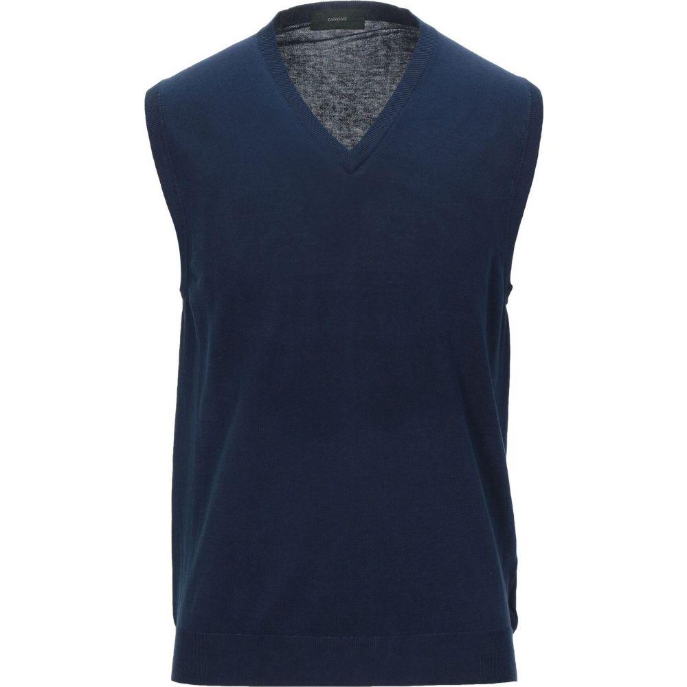 ザノーネ ZANONE メンズ ベスト・ジレ トップス【sleeveless sweater】Dark blue