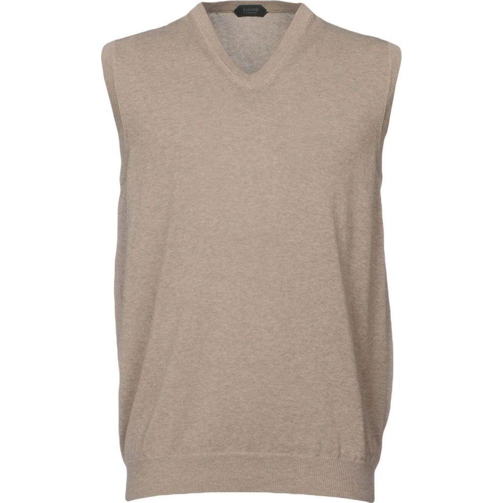 ザノーネ ZANONE メンズ ベスト・ジレ トップス【sleeveless sweater】Dove grey