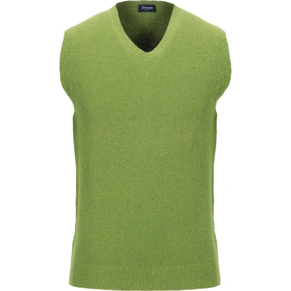 ドルモア DRUMOHR メンズ ベスト・ジレ トップス【sleeveless sweater】Acid green