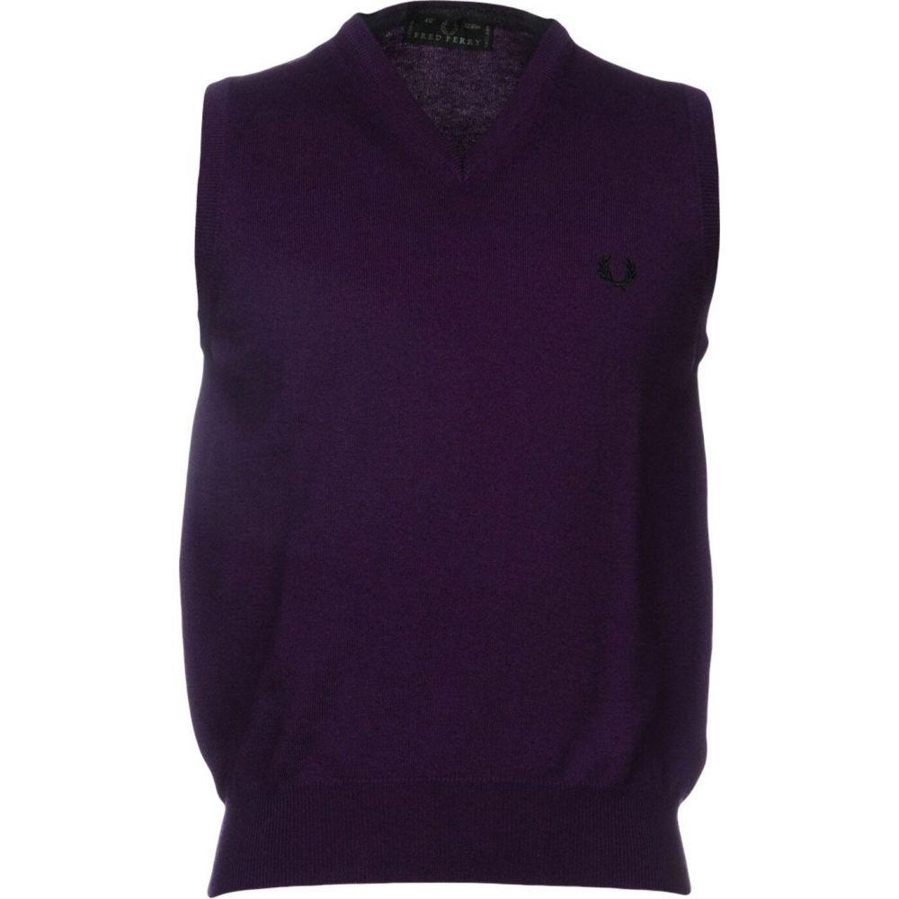 フレッドペリー FRED PERRY メンズ ベスト・ジレ トップス【sleeveless sweater】Mauve