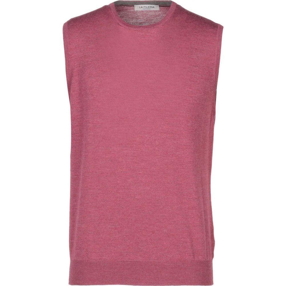 ラ フィレリア LA FILERIA メンズ ベスト・ジレ トップス【sleeveless sweater】Garnet