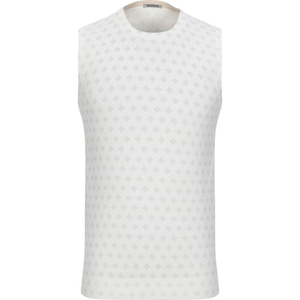 ロダ RODA メンズ ベスト・ジレ トップス【sleeveless sweater】Ivory