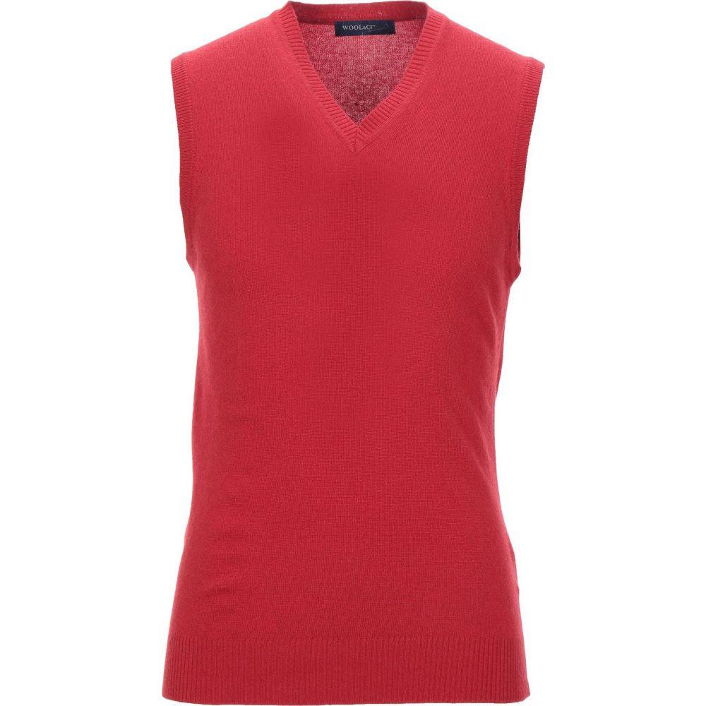 ウールアンドコー WOOL & CO メンズ ベスト・ジレ トップス【sleeveless sweater】Red