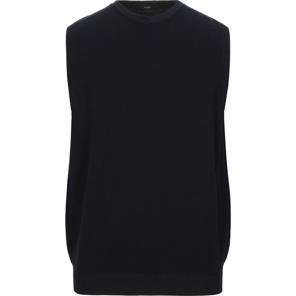 ダンディ DANDI メンズ ベスト・ジレ トップス【sleeveless sweater】Black