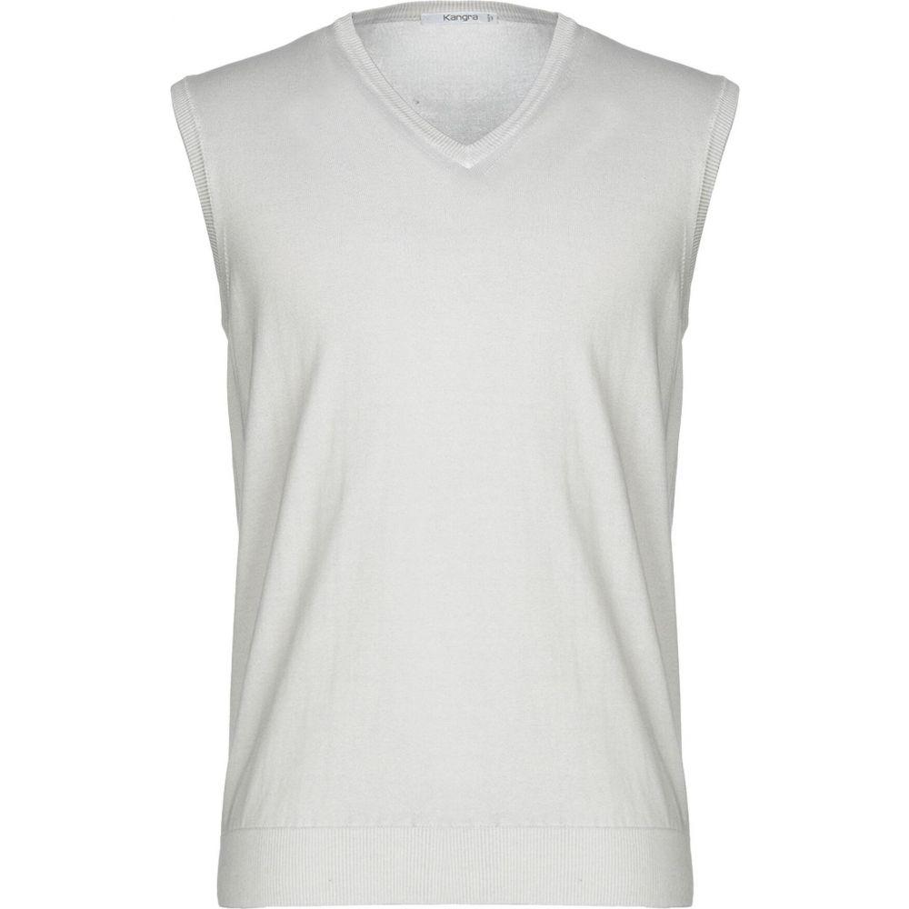 カングラ カシミア KANGRA CASHMERE メンズ ベスト・ジレ トップス【sleeveless sweater】Light grey