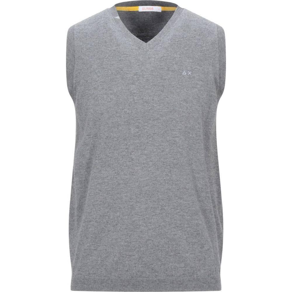 サン シックスティーエイト SUN 68 メンズ ベスト・ジレ トップス【sleeveless sweater】Grey