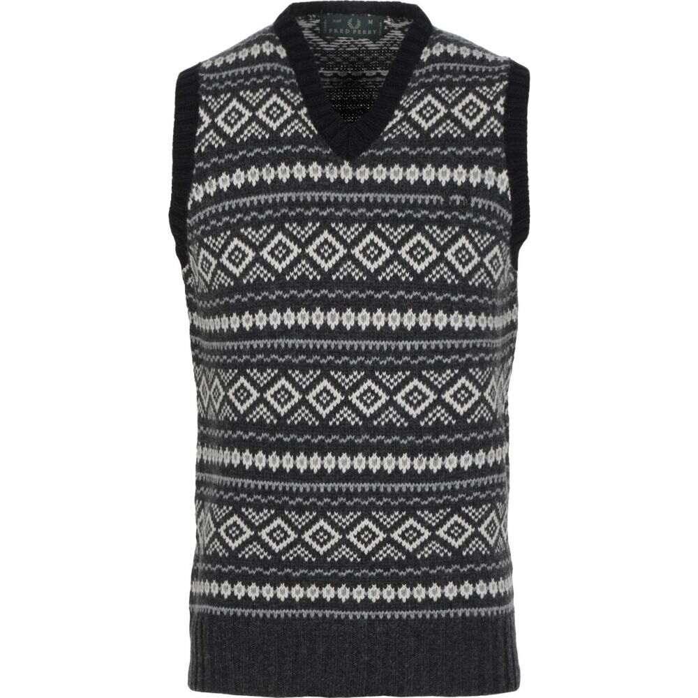 フレッドペリー FRED PERRY メンズ ベスト・ジレ トップス【sleeveless sweater】Grey