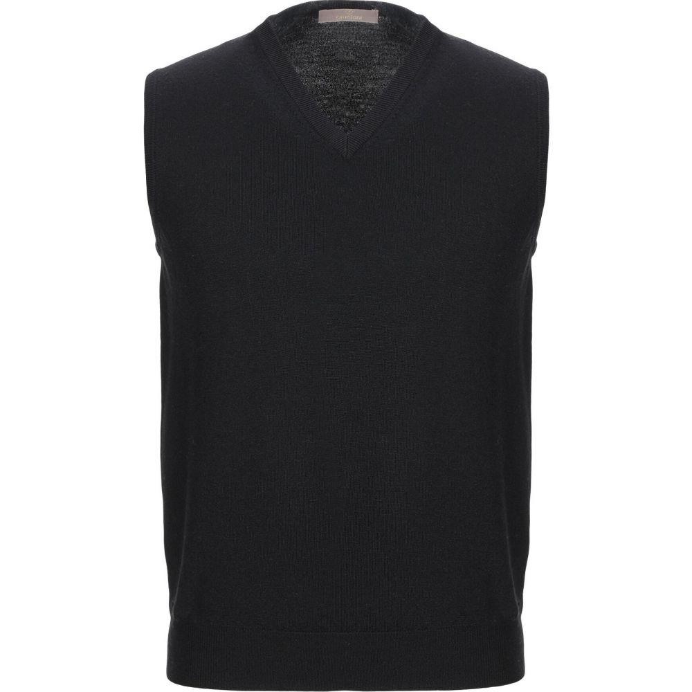 クルチアーニ CRUCIANI メンズ ベスト・ジレ トップス【sleeveless sweater】Black