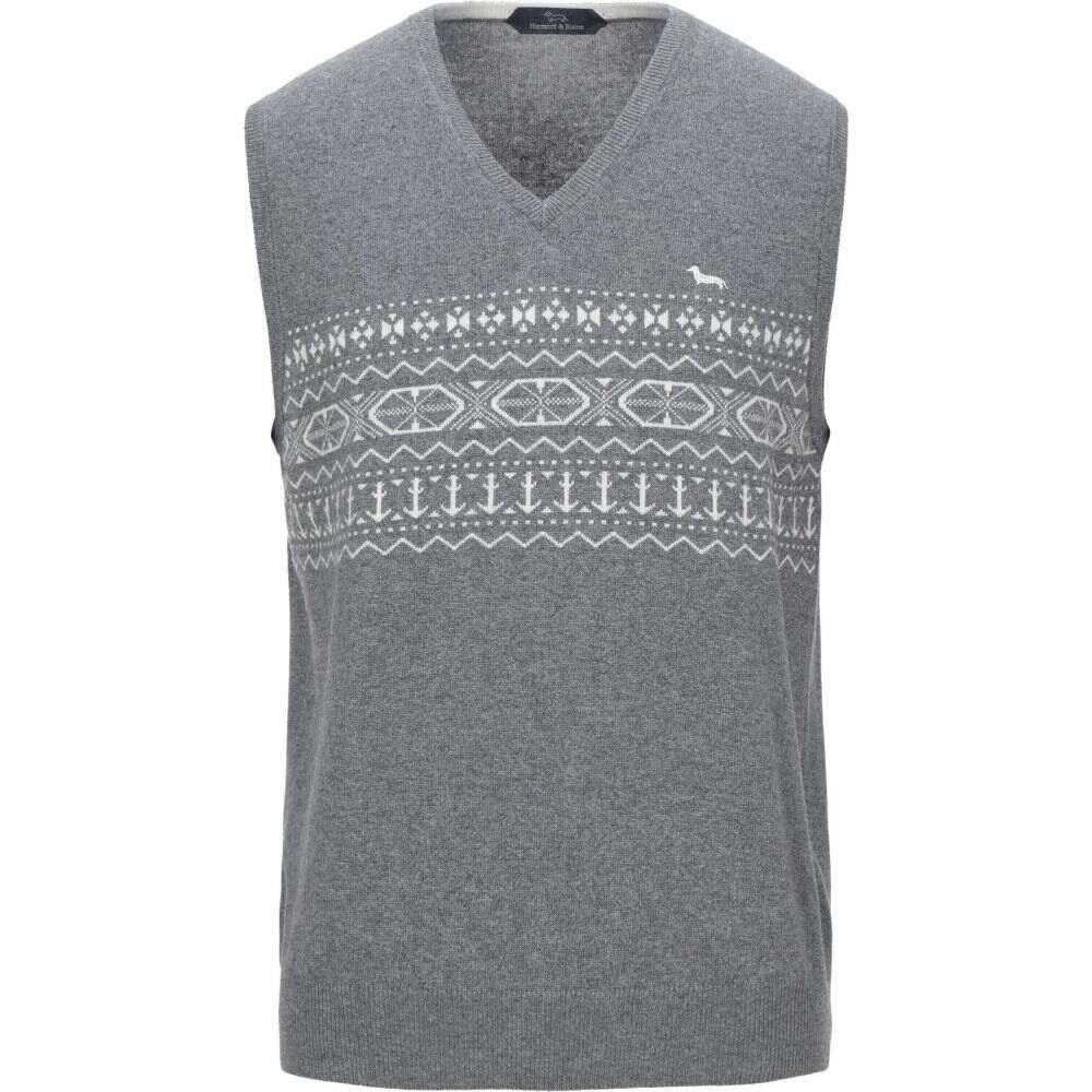 ハーモント アンド ブレイン HARMONT&BLAINE メンズ ベスト・ジレ トップス【sleeveless sweater】Grey