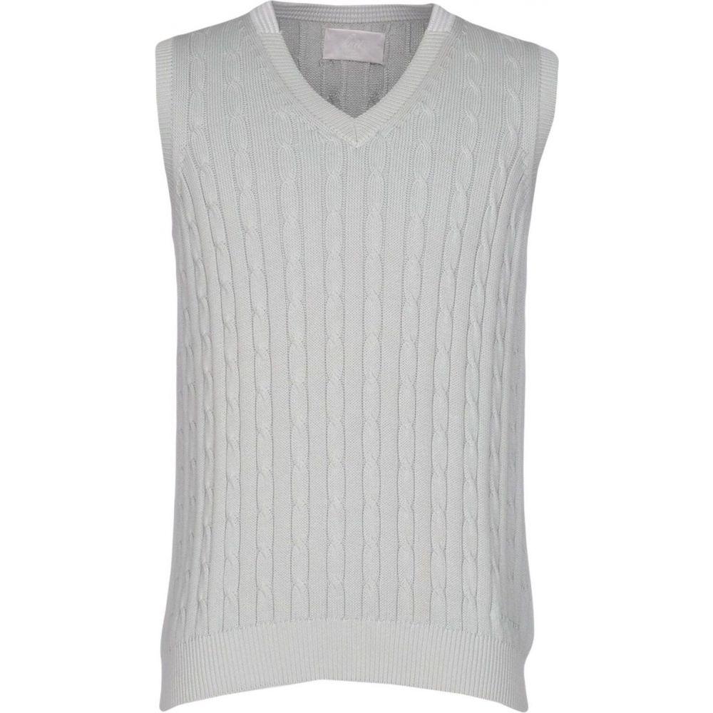 ピューテリー PEUTEREY メンズ ベスト・ジレ トップス【sleeveless sweater】Light grey