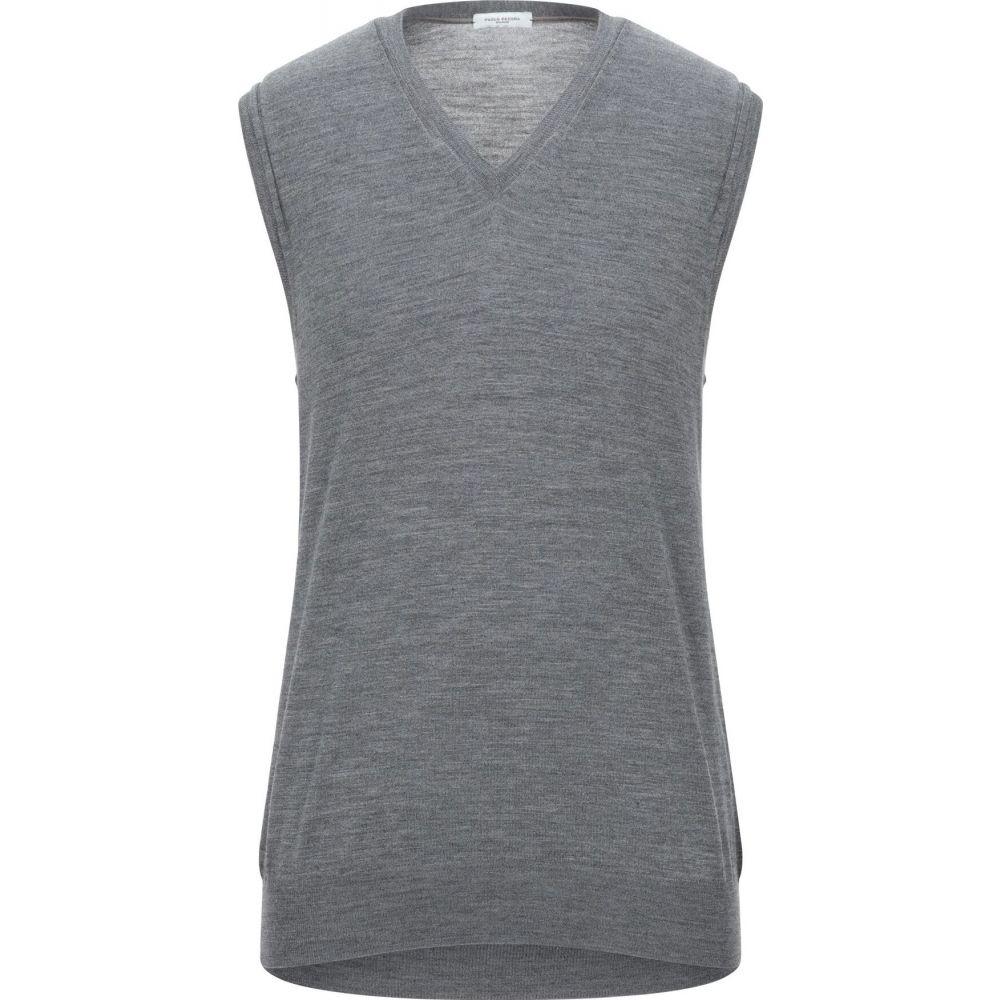 パオロ ペコラ PAOLO PECORA メンズ ベスト・ジレ トップス【sleeveless sweater】Grey
