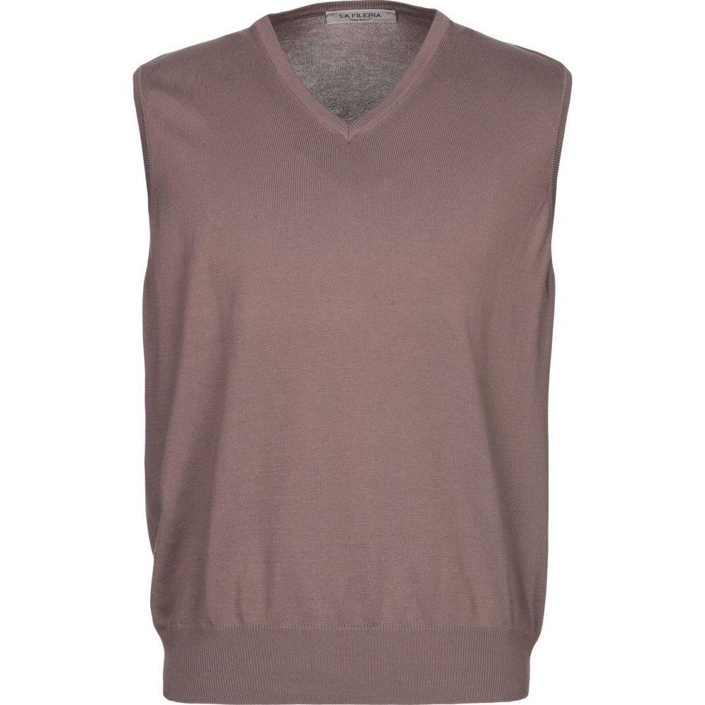 ラ フィレリア LA FILERIA メンズ ベスト・ジレ トップス【sleeveless sweater】Light brown