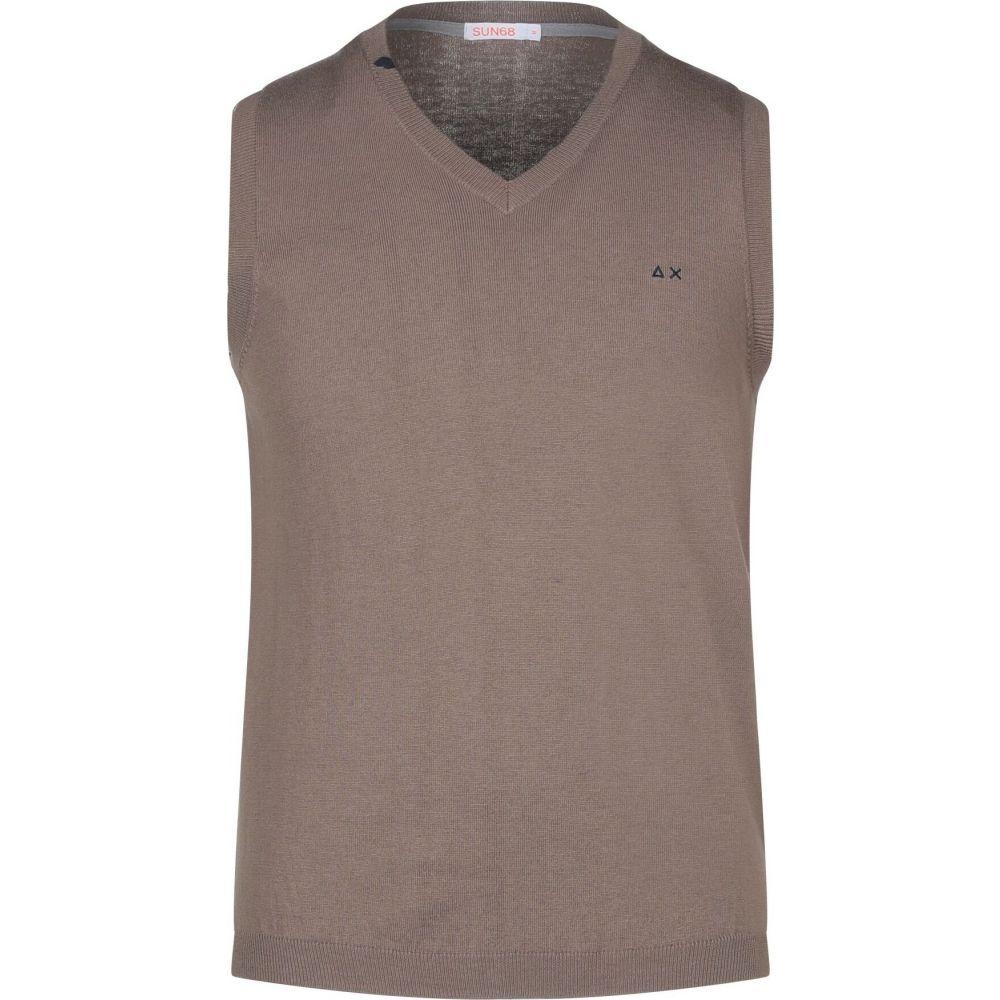 サン シックスティーエイト SUN 68 メンズ ベスト・ジレ トップス【sleeveless sweater】Sand