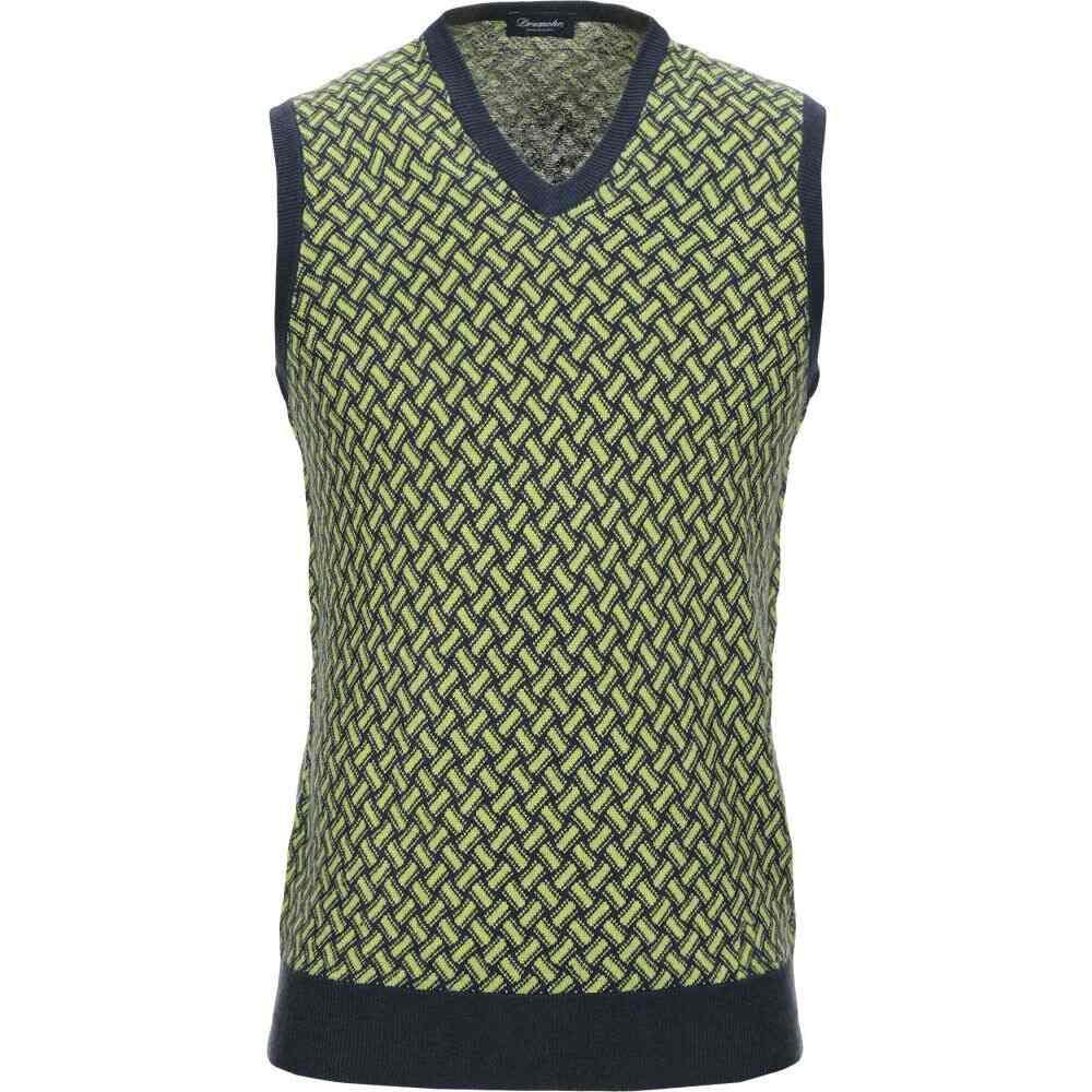 ドルモア DRUMOHR メンズ ベスト・ジレ トップス【sleeveless sweater】Light green