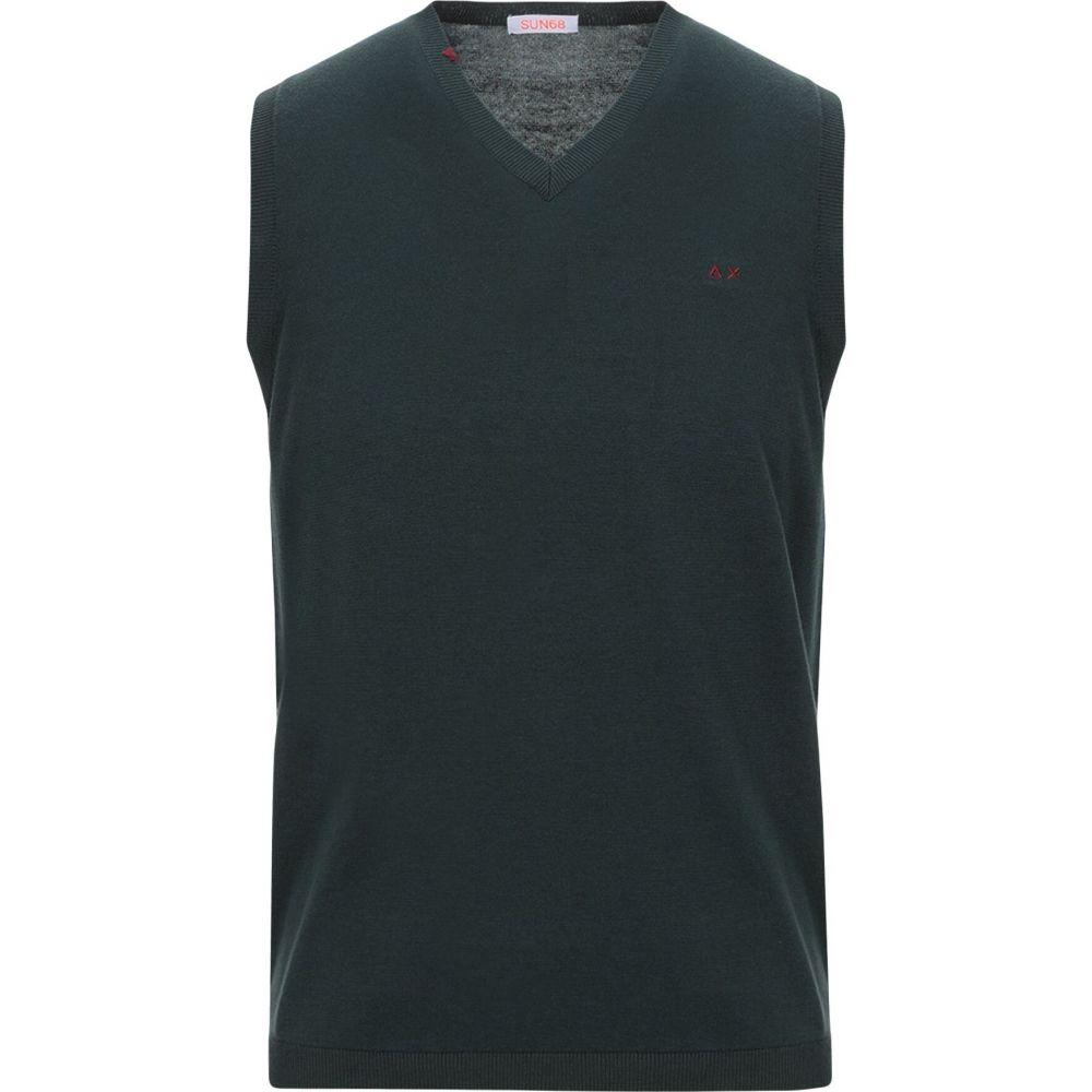 サン シックスティーエイト SUN 68 メンズ ベスト・ジレ トップス【sleeveless sweater】Dark green