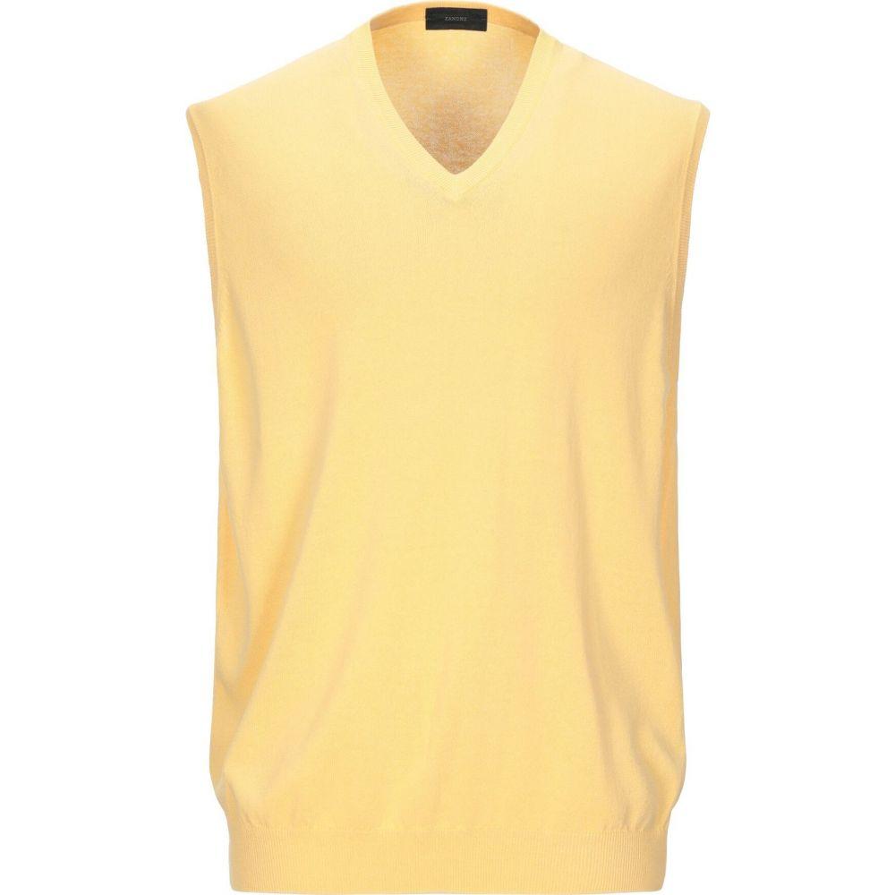 ザノーネ ZANONE メンズ ベスト・ジレ トップス【sleeveless sweater】Yellow