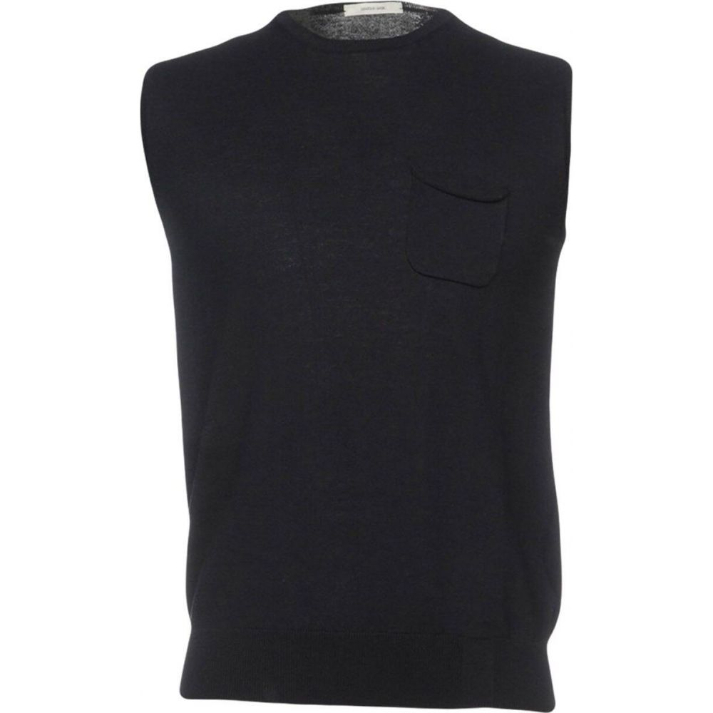 オビオスベーシック OBVIOUS BASIC メンズ ベスト・ジレ トップス【sleeveless sweater】Dark blue
