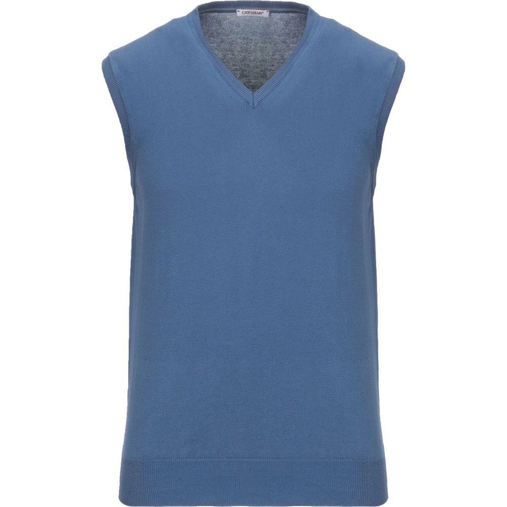 ジオ フェラーリ GIOFERRARI メンズ ベスト・ジレ トップス【sleeveless sweater】Pastel blue