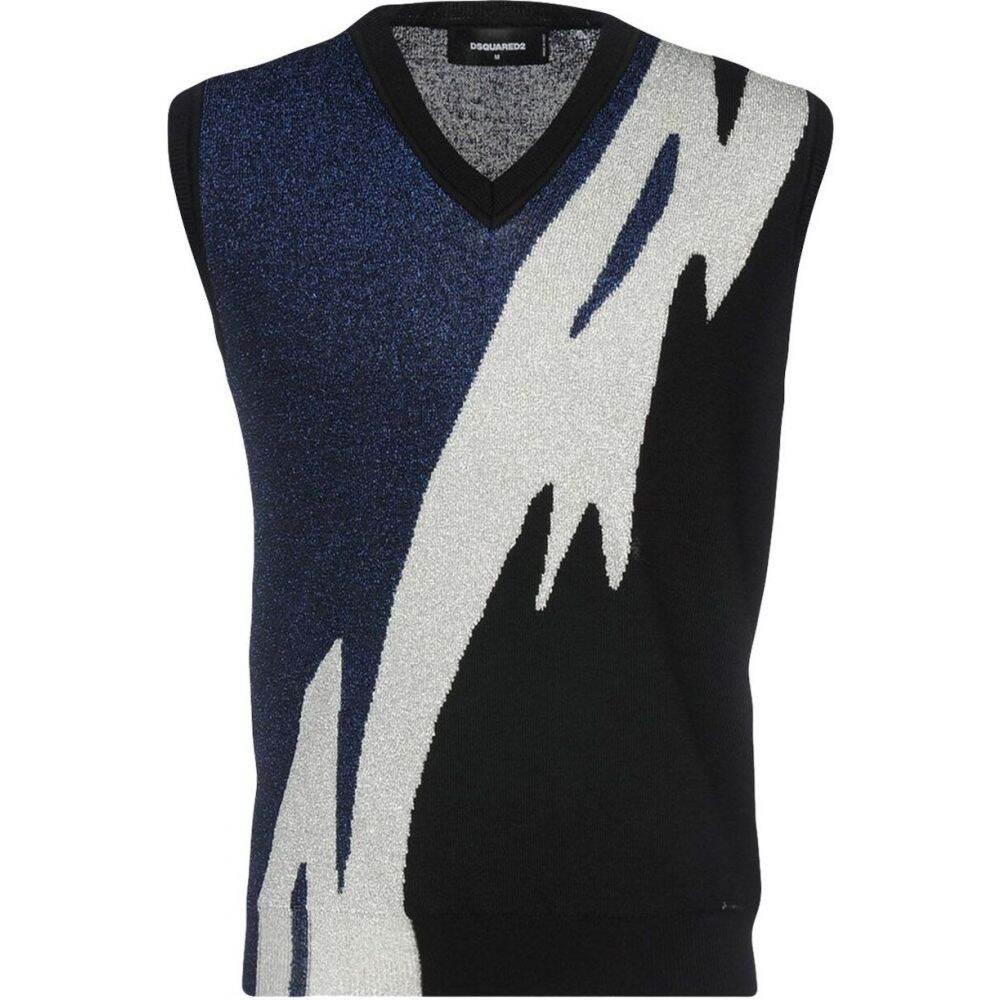 ディースクエアード DSQUARED2 メンズ ベスト・ジレ トップス【sleeveless sweater】Dark blue